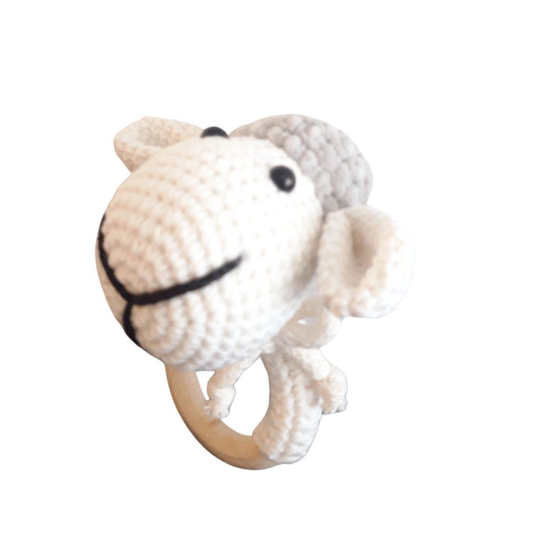 Owieczka biało-szara grzechotka